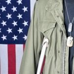 Veteran with Crutch