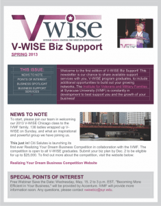 V-Wise Newsletter thumbnail